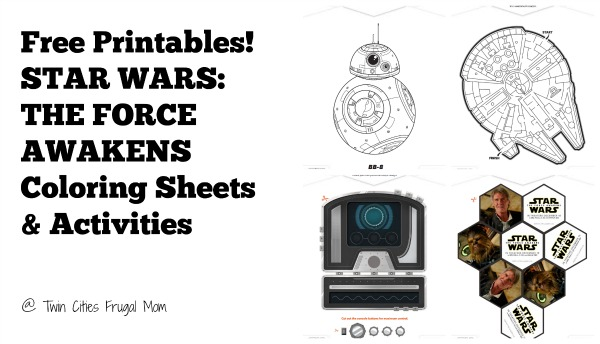 Free Printables STAR WARS THE FORCE AWAKENS Coloring Sheets