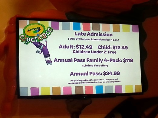 Crayola experience orlando discount coupons