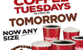 Free Coffee (Any Size!) on Tuesdays for a Limited Time at Holiday