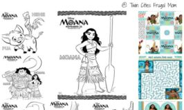 Free Printable MOANA Coloring Pages & Activity Sheets