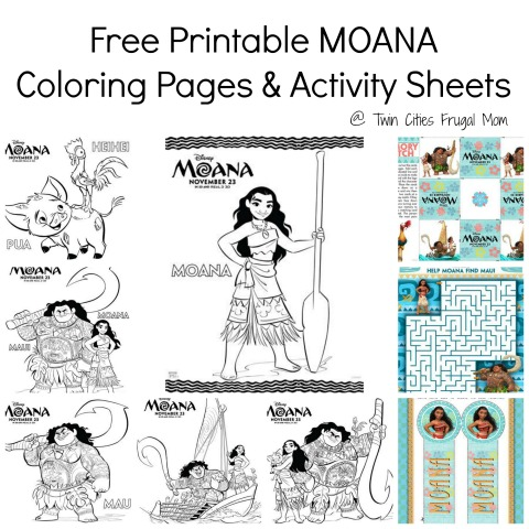 Free Printable MOANA Coloring Pages Activity Sheets