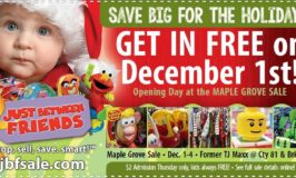 Just Between Friends Maple Grove/Brooklyn Park Holiday Children's Sale Dec 1 – 4 (5 Tips plus a Coupon!)