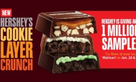 FREE Hershey's Cookie Layer Crunch Samples at Walmart January 28 – 29