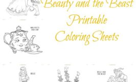 Free Disney's Beauty and the Beast Printable Coloring Sheets
