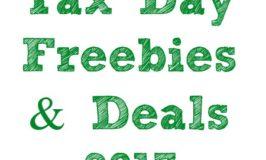 Tax Day Freebies & Deals 2017