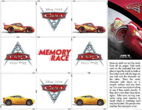 Cars3MemoryRace