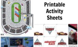 Free Disney's CARS 3 Printable Activity Sheets