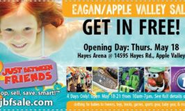 Just Between Friends Eagan Apple Valley Spring Kids' Consignment Sale May 18 – 21 (Free Admission Ticket for Opening Day)