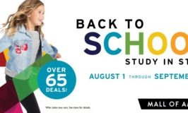 Free Back to School Printable Coupons for the Mall of America Good through Sept. 15th (65 Total!)