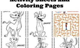 Free Disney Pixar COCO Printable Activity Sheets and Coloring Pages