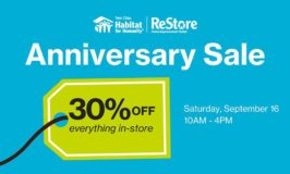 Twin Cities Habitat for Humanity ReStore Anniversary 30% Off Sale – Saturday, September 16th