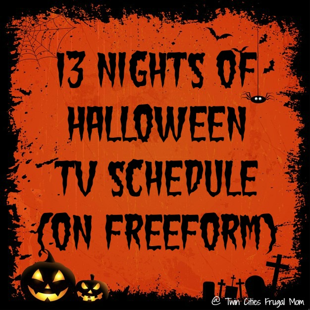 13 nights of halloween tv schedule on freeform twin cities frugal mom. Black Bedroom Furniture Sets. Home Design Ideas